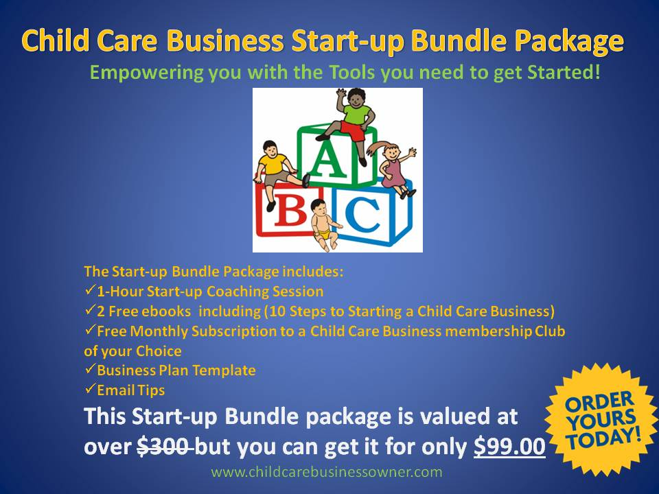 Start-up Bundle Package | The Child Care Business Owner Institute