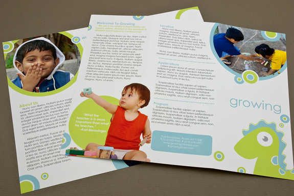 child care brochure template - the brochure the child care business owner institute