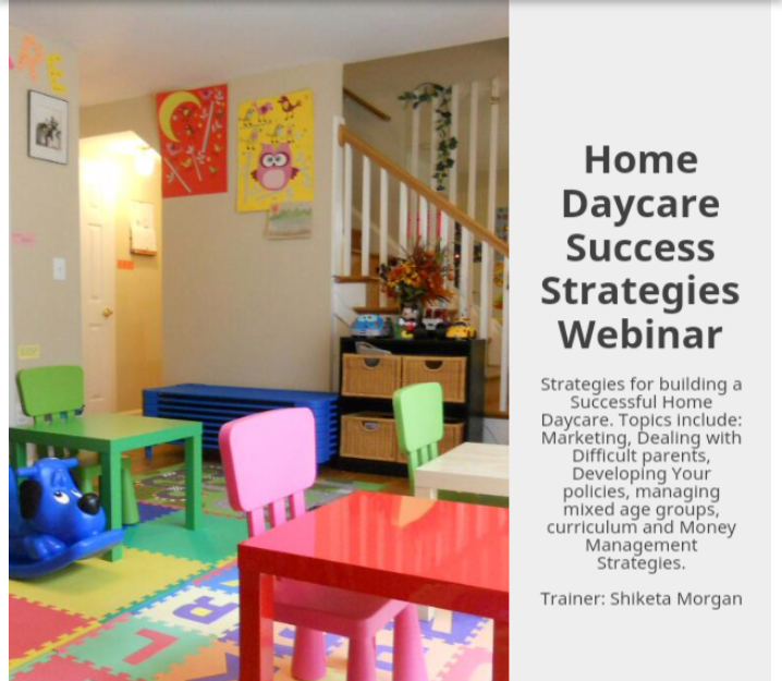 Home Daycare Success Webinar Series